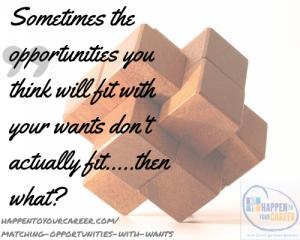 Opportunities, Wants, HTYC, Happen To Your Career