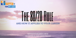 pareto's law 80/20 rule career coaching