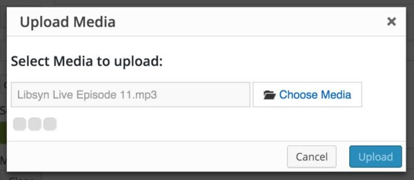Upload mp3