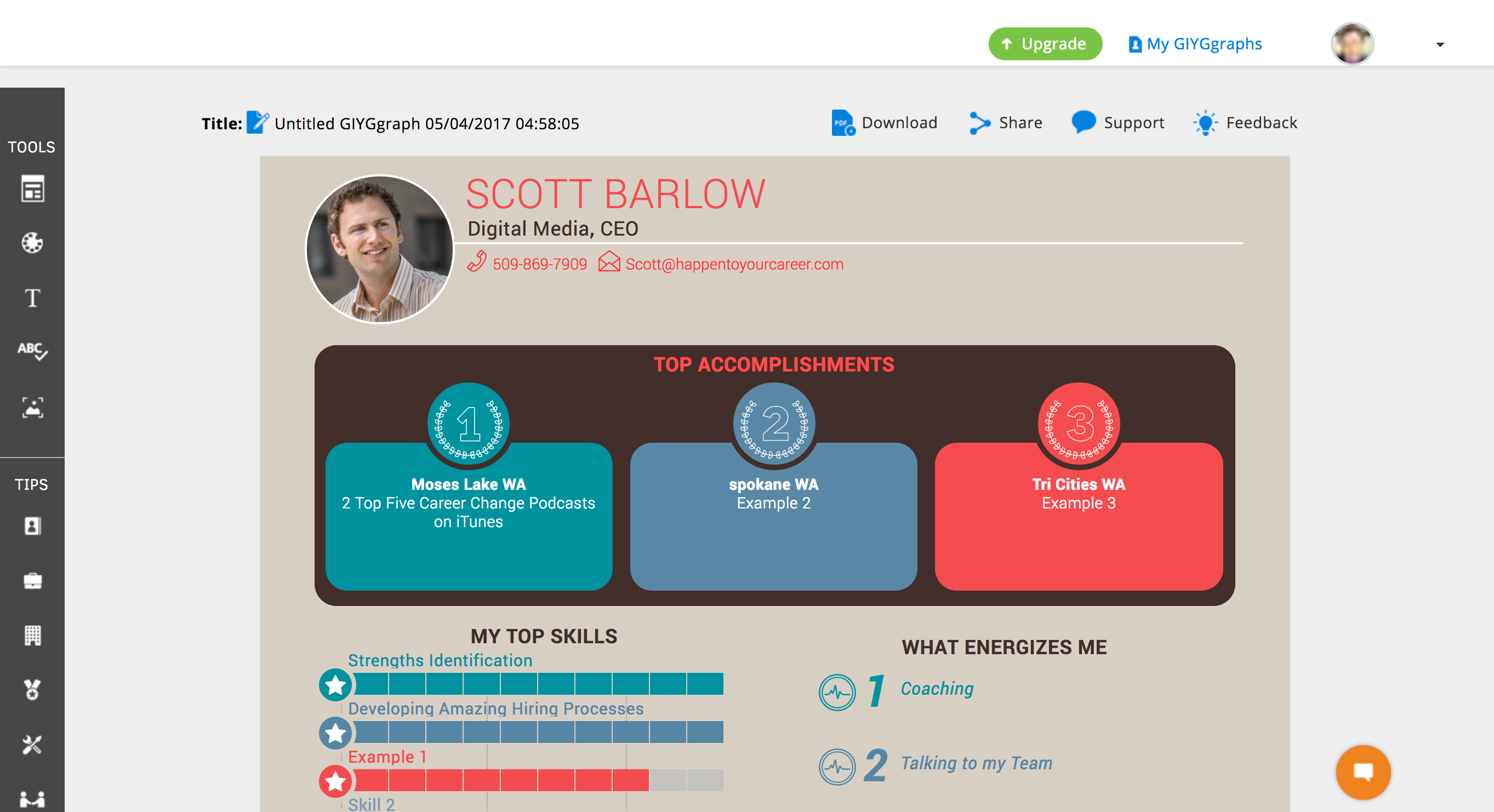 Product Review Giyg Me Visual Infographic Resume Cv Builder And
