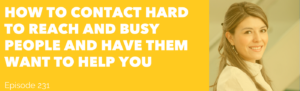 make connections hard to reach people