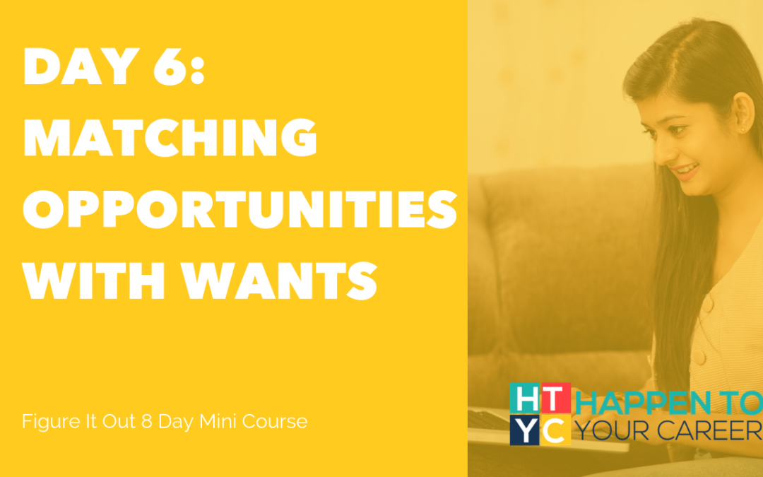 Matching Opportunities with Wants